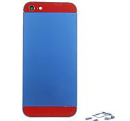 Navy Metalllegierung Zurück Batterie-Gehäuse mit Knopf und Rot Glas für iPhone 5