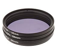 + UV + CPL FLD Filter für Kamera-Set mit Filterbeutel (55mm)