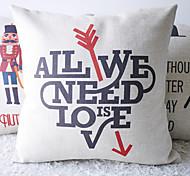 Современная Нам нужна любовь декоративным покрытием Подушка