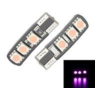 Merdia T10 6-SMD 5050 Luce Rosa LED per Canbus Decoded Car Targa lampada / lampada di lettura (coppia)