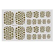 22PCS Abstract Leopard Print Pattern Toenail Art Sticker TJ Sery No.8