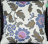 Blue Flowers Pattern Decorative Pillow With Insert