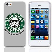 Forth Be with You Design Back Case with 3-Pack Screen Protectors for iPhone 5/5S