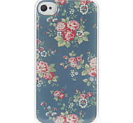 Rose Pattern Epoxy Hard Case for iPhone 4/4S