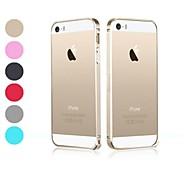 Для Кейс для iPhone 5 Ультратонкий / Прозрачный Кейс для Бампер Кейс для Один цвет Твердый Металл iPhone SE/5s/5