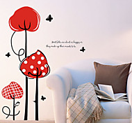 1PCS Colorful Red Flower Wall Sticker