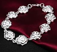 Haute Qualité bel argent Fleurs argentés Lié Charm Bracelets