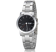 EYKI Women's Simple Dial Silver Steel Band Quartz Wrist Watch (Assorted Colors)