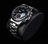 Men's Stylish Racing Dial Steel Band Quartz Wrist Watch