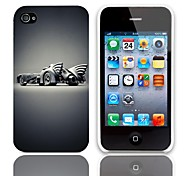 Concept Car Design Hard Case with 3-Pack Screen Protectors for iPhone 4/4S