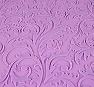 Silicone Flor Planta Impressão Projeto Embossing Pad Fondant Imprint Mat, 59x38cm