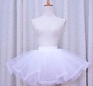 hilo blanco enagua lolita clásico puro (de la cintura: 50-85)
