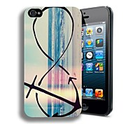 Elonbo J2F Retro Cute Anchor Case Cover for iPhone 4/4S