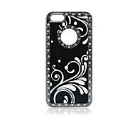Luxury Diamond Flip Spray Painting Case Cover for iPhone5/5S
