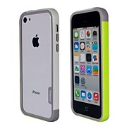 Fashion Double Color TPU Bumper Frame for iPhone5C(Yellow+White)