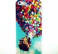 Ballon-Haus Pattern Hard Case für das iPhone 4/4S
