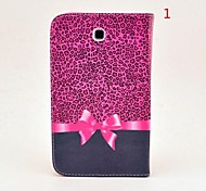 For Samsung Galaxy Case with Stand / Flip Case Full Body Case Cartoon PU Leather Samsung Tab 3 7.0