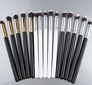 New Pro MakeUp Cosmetic Set Eyeshadow Foundation wood Brush blusher Tools 5 PCs 3 colors