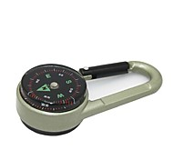 High Quality Double Faced Key Chain Compass + Thermometer- -Champagne