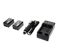 ismartdigi-Pana DMW-BMB9 (2pcs)895mah,7.2V Camera Battery+Car charger for Panasonic DMC-FZ40/FZ45/FZ47/FZ48/FZ100