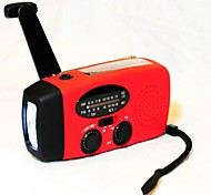 Emergency Wind up Dynamo Solar Powered FM AM Radio LED Flashlight Charger for Cell Phone iPhone