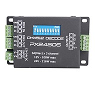 PX24506 DMX 512 DMX 512 Decoder-Treiber-Verstärker für RGB-LED-Leuchten (9A 12V 24V)