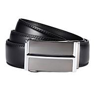 Classic affari Split Leather Uomo EVERGOLD automatico fibbia della cintura