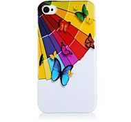 Umbrella and Butterfly Pattern Silicone Soft Case for iPhone4/4S