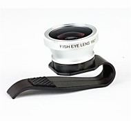 3-In-One 180 Degree Fisheye Lens with Clip for Cellphone