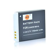 1700mah 3.7v DSTE nb-6l batería del li-ion para el canon digital ixus 85 95 105 200 210