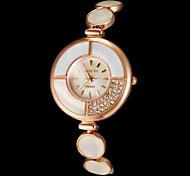 Da Mulher Diamante Round Dial Liga Banda Quartz Analógico Pulseira Watch (cores sortidas)