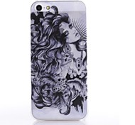 Semitransparent Retro Ink and Wash Painting  Pattern Durable Hard Case for iPhone5/5S