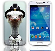 Cute Ostrich Pattern Hard Case with 3-Pack Screen Protectors for Samsung Galaxy S4 mini I9190