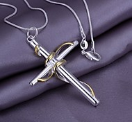 Z&X®  European  (Cross) As Picture Silver Plated Pendant Necklace (1 Pc)