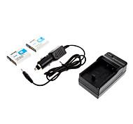 ismartdigi-Sony BG1 NP-FG1 (2pcs) 1100mAh, cargador de 3.6V batería de la cámara + del coche para SONY HX5C WX1 T20 WX10 HX7 T100 HX10