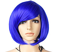 Short Straight Synthetic Wig Side Bang Multiple Colors Available