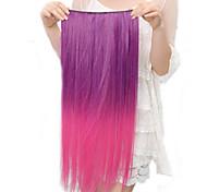 Высокая температура Сопротивление Двухцветный 20 дюймы Длинные прямые Расширение 5 Клип парики 11 Цвета