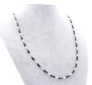Fashion Three Colors Titanium Steel Cone Chain Necklace
