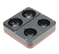 PEGA 4 in1 Charging Dock Stand for PS3 Move Game Controller (Black)