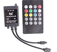 IR LED RGB Strip Music Controller with 20-Key Remote Control   (12~24V,144W)