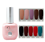 1PCS CH Soak-off Pink Bottle Solid Color UV Color Gel Polish NO.31-40(15ml,Assorted Color)