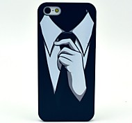 White Collar Pattern Hard Case for iPhone 5/5S
