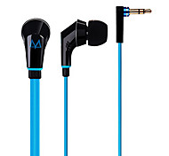 Maya M13 Flat Cable Heavy Bass In-Ear Headphone for iPhone6/Samsung