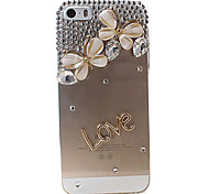Double Butterfly Covered Back Case for iPhone 5/5S