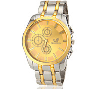 Men's Round Dial Steel Band Quartz Wrist Watch (Assorted Colors) Cool Watch Unique Watch