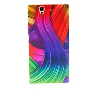 Kinston Color Ribbon Pattern Plastic Hard Case for Sony L36h(Xperia Z)
