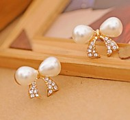 Lureme®Pearl Bowknot Stud Earning