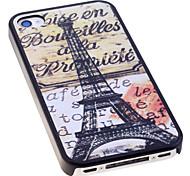 Classic Torre Eiffel modello posteriore Case for iPhone 4/4S