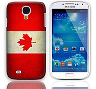 Vintage The Flag of Canada Design Hard Case with 3-Pack Screen Protectors for Samsung Galaxy S4 I9500