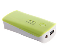 5600mAh External Battery with Flashlight for Mobile Device(Green)